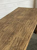 Nice Large Bleached Oak Farmhouse Dining Table With Extensions (7 of 35)