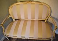Fine Small Painted & Gilded Sofa (8 of 11)