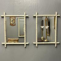 Pair of Painted Faux Bamboo Mirrors (3 of 5)