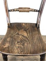 Pair of 19th Century Elm Bar Back Farmhouse Chairs (7 of 7)