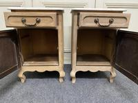 Pair of French Bleached Oak Bedside Cupboards (7 of 13)