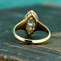 The Antique Late Victorian Marquise Fifteen Diamond Ring (5 of 5)