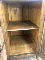 Antique Oak Arts & Crafts Marble Top Cupboard (4 of 12)