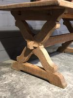 Small French Oak Farmhouse Kitchen Dining Table (2 of 11)