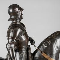 Very Large Stunning 19th Century Equestrian Bronze Sculpture of Bartolomeo Colleoni (20 of 20)