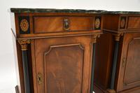 Pair of Georgian Style Marble Top Bedside Cabinets c.1930 (3 of 10)