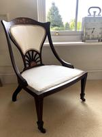 Fine Quality Inlaid Mahogany Ladies Chair