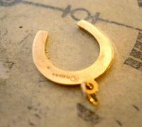 Vintage Pocket Watch Chain Horseshoe Fob 1979 Equestrian Large Fob (7 of 10)