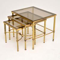 1950's Italian Brass & Glass Nest of Tables (6 of 8)