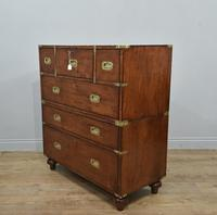 Antique Mahogany Campaign Military Chest Of Drawers (8 of 8)