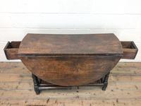 Antique Oak Drop Leaf Table (7 of 11)