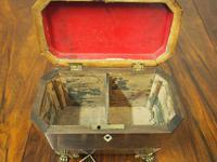 George IV Inlaid Rosewood Tea Caddy (6 of 9)