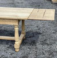 Large Bleached Oak Farmhouse Dining Table with Extensions & Storage (34 of 35)