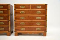 Pair of Yew Wood Military Campaign Style Chests (5 of 14)