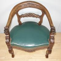 Carved Oak Victorian Desk Chair (5 of 9)