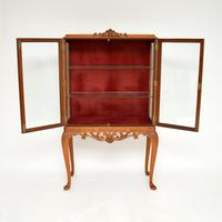 Queen Anne Style Burr Walnut Display Cabinet c.1930 (3 of 11)