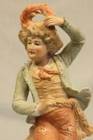 Antique Pair of Bisque Figurines of Lady & Gentleman (3 of 13)