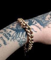 Antique Victorian 9ct Rose Gold Curb Bracelet, Heart Padlock (8 of 13)