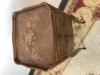 French Marquetry Kingwood Bedside Tables Rustic Distressed (12 of 13)