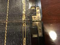Burr Walnut Brass Inlaid Writing Box (4 of 17)