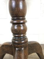 19th Century Oak Circular Tilt Top Tripod Table (4 of 12)