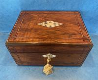 Victorian Walnut Jewellery Box c.1860 (5 of 14)