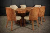 Art Deco Epstein 6 Seat Dining Table & Chairs Suite (10 of 22)
