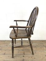 Set of Six 20th Century Wheelback Chairs including Two Carvers (8 of 20)