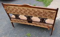 1920s Elegant 3 Seater Mahogany Sofa with Inlay Detailing (3 of 4)