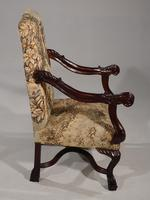 Large & Finely Carved Pair of Early 20th Century Throne Type Chairs (4 of 5)