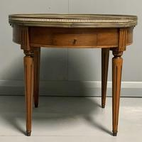 French Marble Top Coffee Table with drawers (2 of 4)