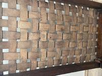 Art Deco Original English Handmade Oak & Leather Strapped Brass Studded Footstool (21 of 22)