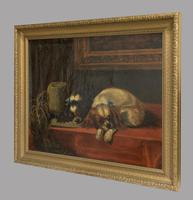 After Landseer - King Charles Spaniels - Oil on Canvas - Early 20thc (4 of 4)