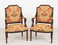 Pair of French Oak Open Armchairs (2 of 9)