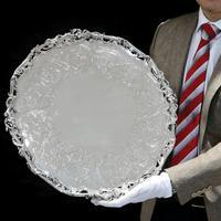 Exceptional Large Solid Sterling Silver Victorian Salver/tray/platter 47cm with Cast Border - Hunt & Roskell - Storr Mortimer & Hunt (29 of 29)