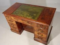 Fine George III Period Mahogany Kneehole Architects Desk (4 of 5)