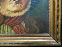 'The Old man' Original Antique 19th Century Victorian Oil Portrait Painting (8 of 11)