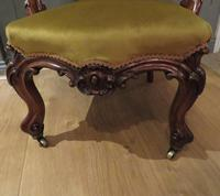 Carved Walnut Armchair New Upholstery fully restored (7 of 9)