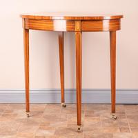Inlaid Oval Satinwood Occasional Table (7 of 15)
