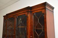 Antique Mahogany Breakfront  Bookcase (11 of 12)