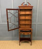 Edwardian Slender Inlaid Mahogany Display Cabinet (13 of 21)