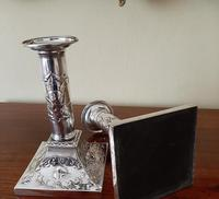 Superb Pair of Antique Solid Silver Candlesticks (5 of 8)
