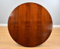 Large Mahogany Circular Extending Dining Table (4 of 12)