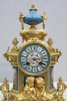 French Napoleon III Bronze Gilt and Porcelain Mantel Clock by Japy Freres (11 of 11)
