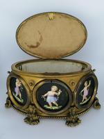 X Large Brass Framed Casket / Box c.1850 (6 of 7)