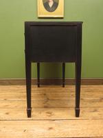 Antique Black Painted Console Table or Desk with Drawers, Gothic Shabby Chic (12 of 16)