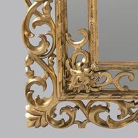Large 19th Century Carved Giltwood Marginal Overmantle Mirror (6 of 16)