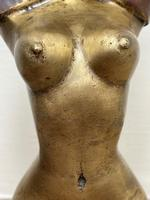 """Art Deco French Cold Painted Gilt Bronze Posing """"Mystery Nude Lady"""" c.1930 (8 of 41)"""