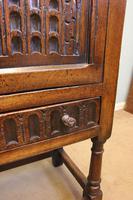Antique Carved Oak Cupboard Side Table (13 of 14)