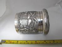 Outstanding quality Bhowanipore antique silver lidded pot Calcutta c 1890 (6 of 11)